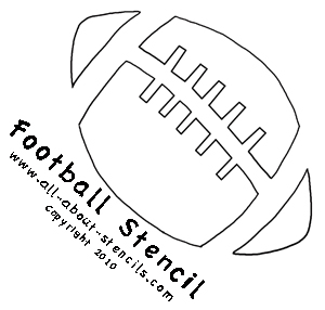 Free printable sports stencils infocap ltd for Football cutout template