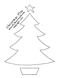 Christmas Tree Stencil from all-about-stencils.com