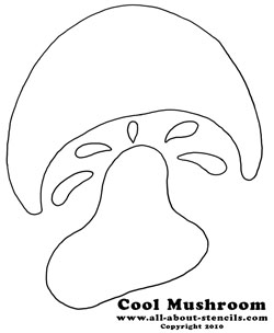 Mushroom Stencil from www.all-about-stencils.com