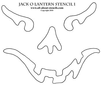 Jack O Lantern Stencil from www.all-about-stencils.com