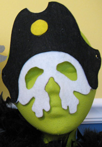 Pirate Mask from www.all-about-stencils.com