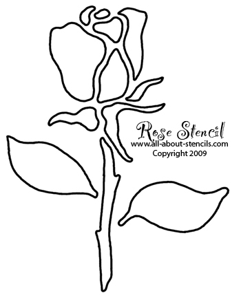 Rosebud Stencil from www.all-about-stencils.com