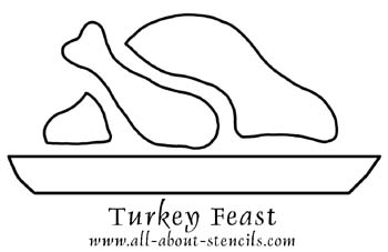 Thanksgiving Stencil from www.all-about-stencils.com