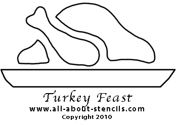 Cooked Turkey Stencil from www.all-about-stencil.com