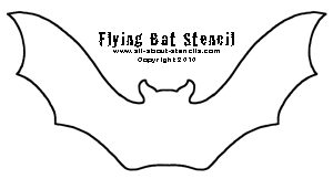 Flying Bat Stencil from www.all-about-stencils.com