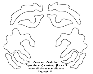 Gonna Getcha Pumpkin Carving Stencil from all-about-stencils.com