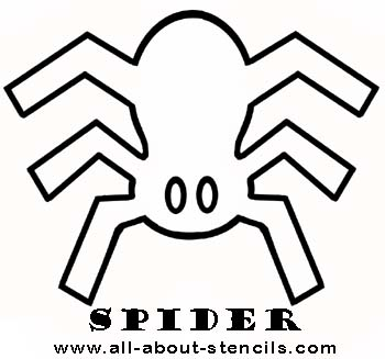 Spider Stencil from www.all-about-stencils.com