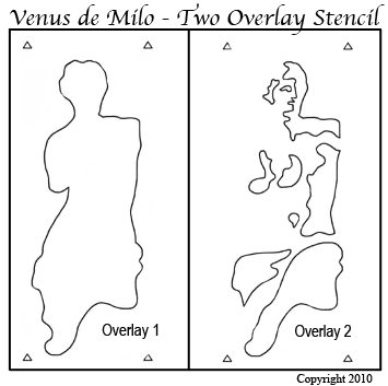 Venus de Milo Stencil from www.all-about-stencils.com