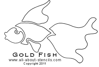Gold Fish Stencil from www.all-about-stencils.com
