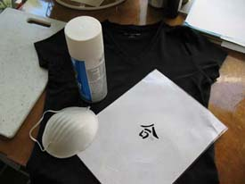 Harmony Symbol Stenciled T Shirt from www.all-about-stencils.com