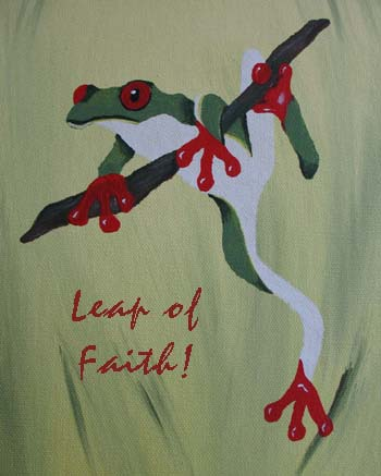 Frog Stencil Art Print from all-about-stencils.com