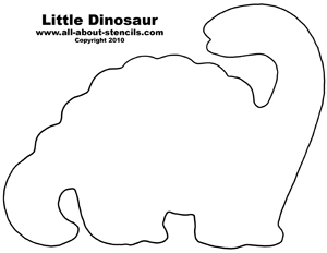 Dinosaur Baby Stencil from www.all-about-stencils.com