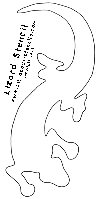 Southwestern Lizard Stencil from www.all-aobut-stencils.com