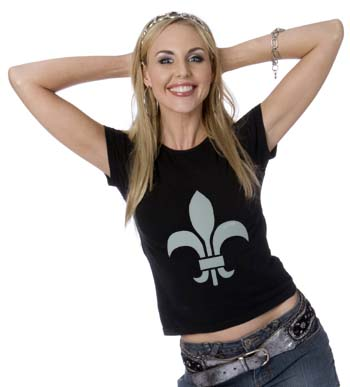 Stenciled Fleur de lis T Shirt from www.all-about-stencils.com