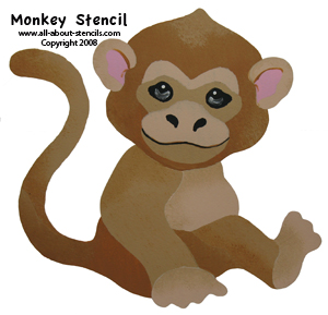 Monkey Stencil from all-about-stencils.com