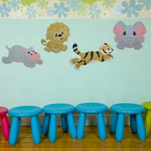 Stenciled Wall for a Nursery from www.all-about-stencils.com