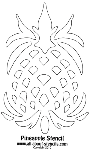 Pineapple Stencil from www.all-about-stencils.com