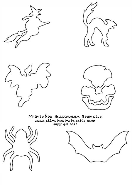 Printable Halloween Stencils from www.all-about-stencils.com