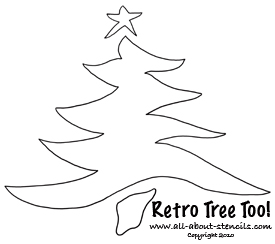 Retro Christmas Tree Stencil from www.all-about-stencils.com