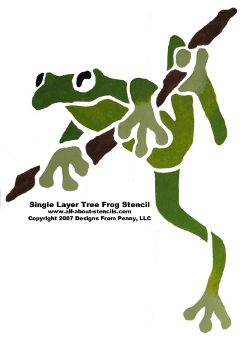 Example of Frog Stencil from www.all-about-stencils.com