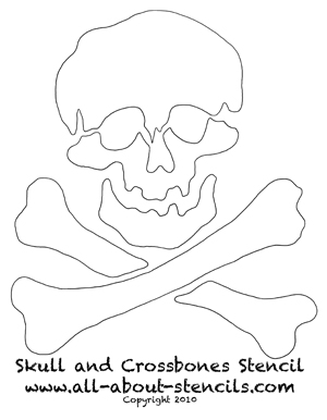 Free Skull and Crossbones Stencil from www.all-about-stencils.com
