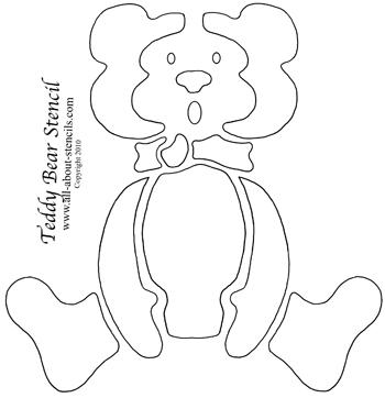 Teddy Bear Stencil from www.all-about-stencils.com