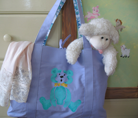 Teddy Bear Stenciled Bag from www.all-about-stencils.com