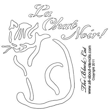 La Chat Noir Stencil from www.all-about-stencils.com