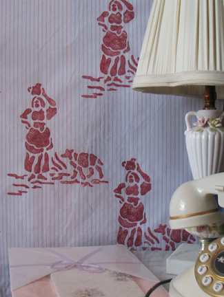 Toile Stencil from www.all-about-stencils.com