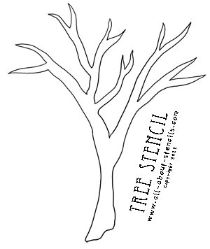 Tree Stencil From All About Stencils