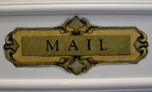 Trompe L'oeil Mail Slot Stencil from www.all-about-stencils.com