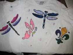 Stenciled T-Shirts from www.all-about-stencils.com