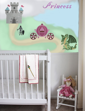 Stenciled Nursery Walls from www.all-about-stencils.com