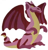 Bad Pink Dragon from www.all-about-stencils.com