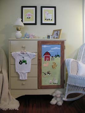 On the Farm Stencils Armoire from www.all-about-stencils.com
