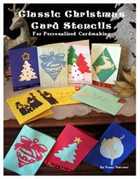 Christmas Card Stencil Book from www.all-about-stencils.com
