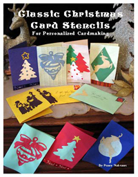 Christmas Card Stencils from www.all-about-stencils.com