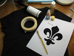 Stenciling a T-Shirt from www.all-about-stencils.com