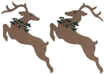 Flying Reindeer Stencils from www.all-about-stencil.com