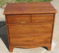 Before of Frog Dresser from www.all-about-stencils.com