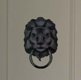 Lion Head Door Knocker Stencil from www.all-about-stencils.com