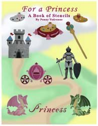 Princess Stencil Book from www.all-about-stencils.com