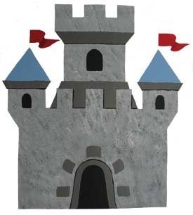 Princess Castle Stencil from www.all-about-stencils.com
