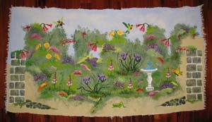 Secret Garden Stenciled Rug from www.all-about-stencils.com