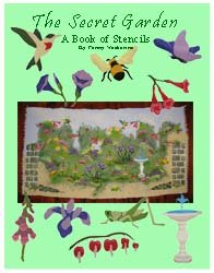 Secret Garden Stencil Book from www.all-about-stencils.com