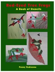 Tree Frogs Stencil Book from www.all-about-stencils.com