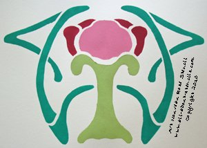 Art Nouveau Stencil from www.all-about-stencils.com