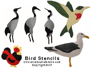 Bird Stencils from www.all-about-stencils.com