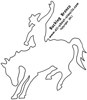 Bucking Bronco Stencil from www.all-about-stencils.com