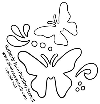 picture about Butterfly Stencils Printable called Butterfly Stencils For Backyard garden and Summer time Topic Artwork In addition Cost-free